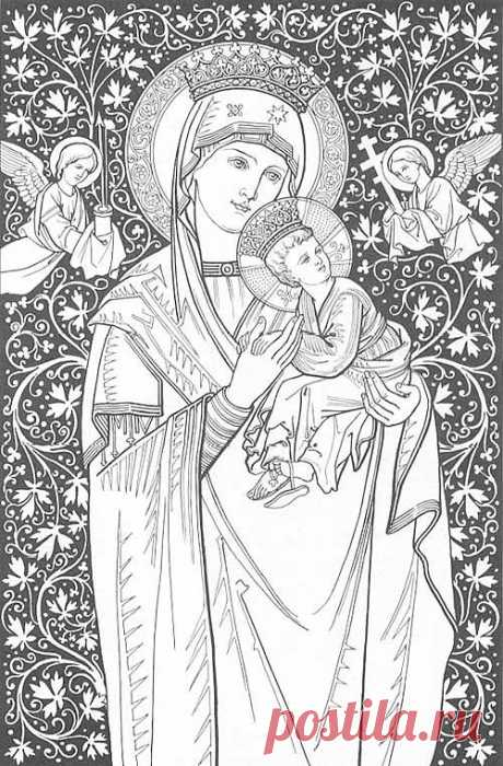 colouring_page Semper Excelsius - A website on the restoration of Catholic tradition and culture.   Pay us a visit!  semper-excelsius.com/