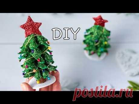 Нарядная Новогодняя ёлочка из глиттерного фоамирана своими руками DIY Christmas tree Glitter Foam - YouTube