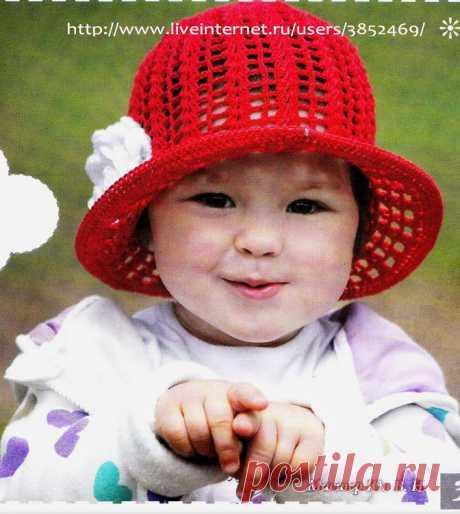 Красная шляпка для девочки