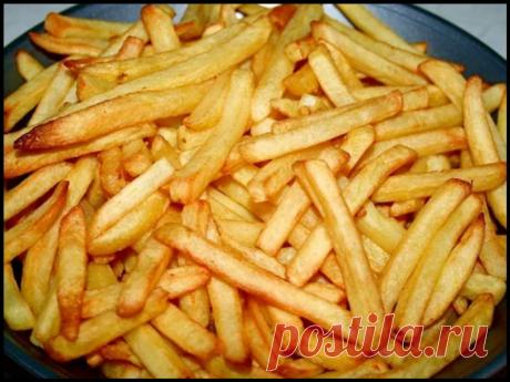 Картошку Фри готовлю без капли масла, жира и яичных белков. Получается вкуснее, чем в Макдональдсе и полезно!