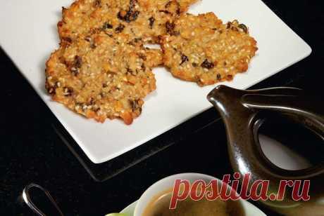 Овсяное печенье с изюмом и кунжутом пошаговый рецепт с видео и фото – выпечка и десерты