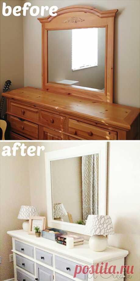 14 блестящих вариантов переделки старой мебели, которые помогут сэкономить на покупке новой
