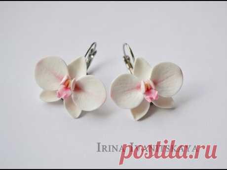 """Сережки """"Орхидеи"""" из FIMO"""