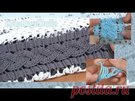 Вязание косы крючком мастер-класс Урок 16 Аранское вязание крючком