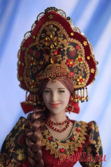 Why to us these foreign Barbie when there is such beauty? Handwork dolls from Larisa Isaeva