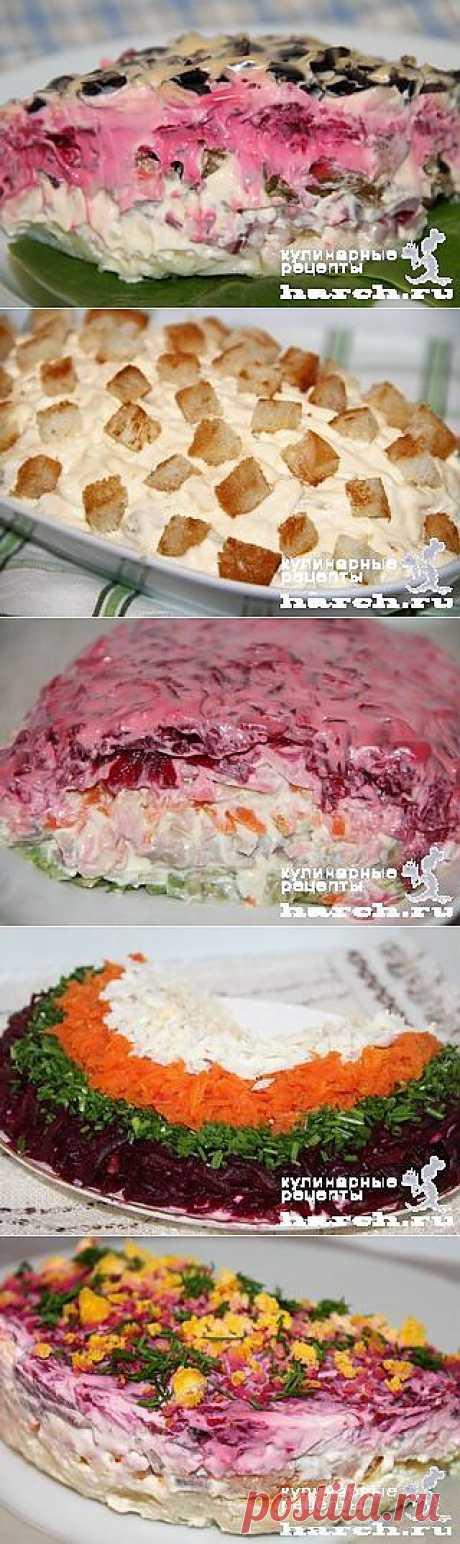 Рыбные салаты.