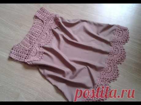 Топ - блуза. Вязание + ткань. Часть 4. Фотоальбом.