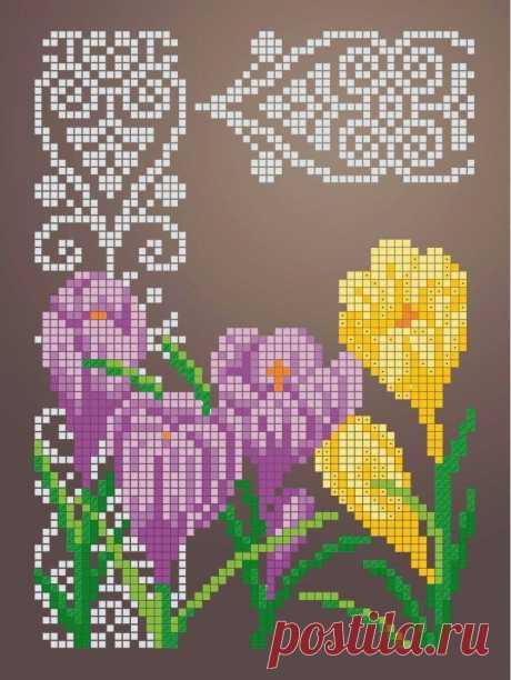 Схема для вышивки бисером Цветы «Зупа»™ «Крокусы» (A5) 15x18 (ЧВ-2342 (10)) Схемы вышивки бисером - это специальная ткань с рисунком для вышивания бисером. Схема для вышивания нанесена на ткань в виде цветных обозначений поверх изображения. В состав входят рисунок на ткани и инструкция по вышиванию. Бисер в состав не входит.