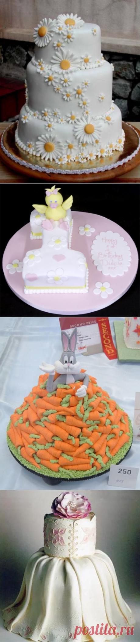 Идеи украшений тортов из мастики