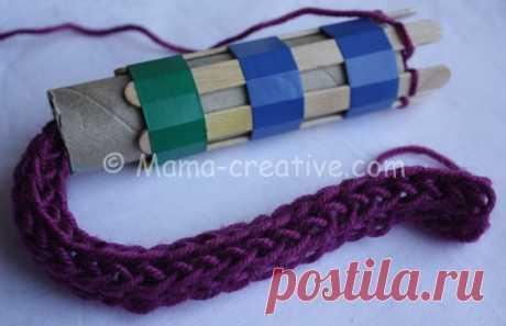 Рукодельные хитрости: делаем сами мельницу для вязания шнуров