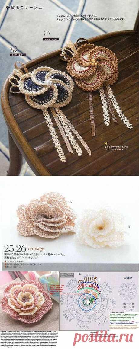 Вязание крючком. Цветы и кое-что еще).