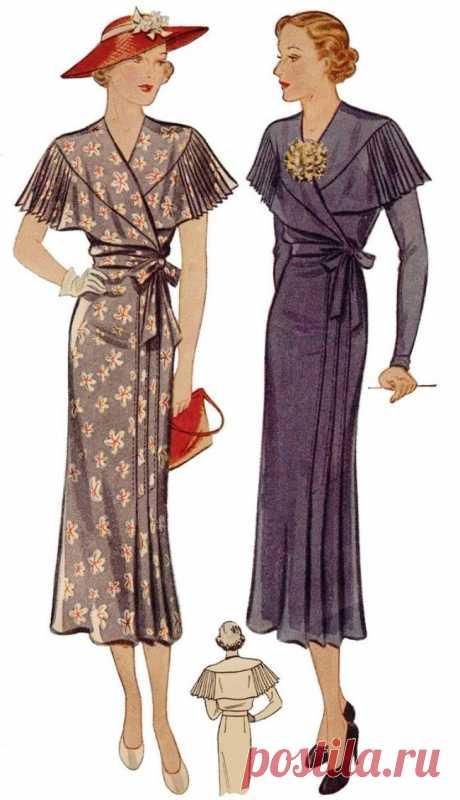 Платья с воротником-пелериной
