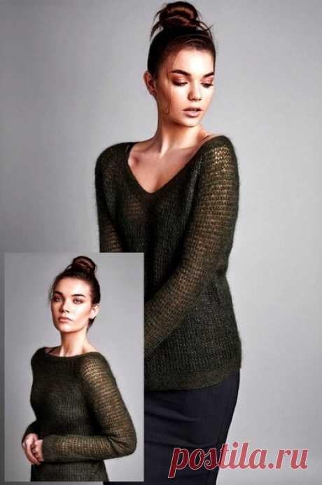 Голосование! Пуловер, кардиган или топ спицами.   Мамины Ручки. Вязание и другое   Яндекс Дзен