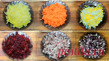 Селёдка под шубой — классический рецепт: слои, последовательность