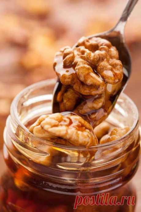 Полезно для здоровья: орехи с мёдом