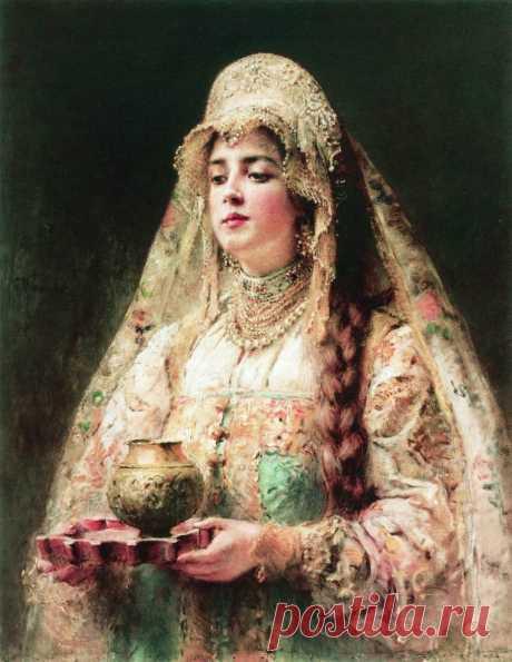 Художник Константин Егорович Маковский (1839-1915). Чарка меду
