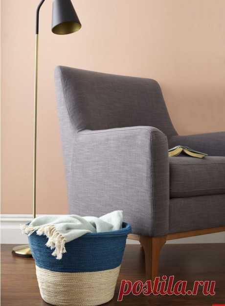 Декоративная плетеная корзина - Домашний Блог