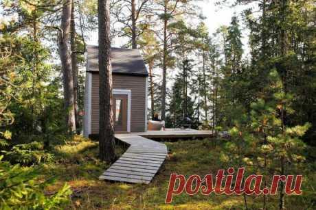 Дача площадью всего 9 м2, построенная 20-летним студентом Робином Фальком в финском лесу