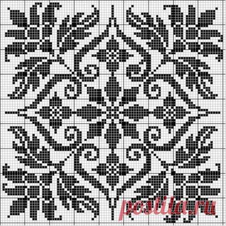 Самые красивые схемы для филейного вязания