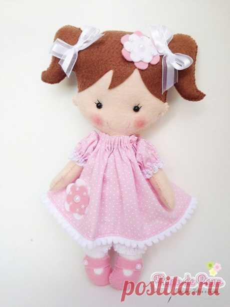 Очаровательные куколки из фетра — Поделки с детьми