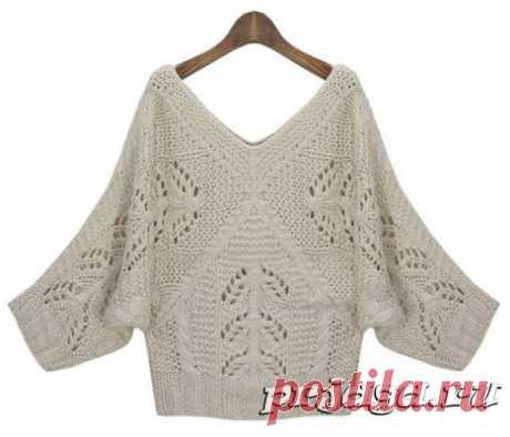 Женский пуловер и свитер крючком или спицами