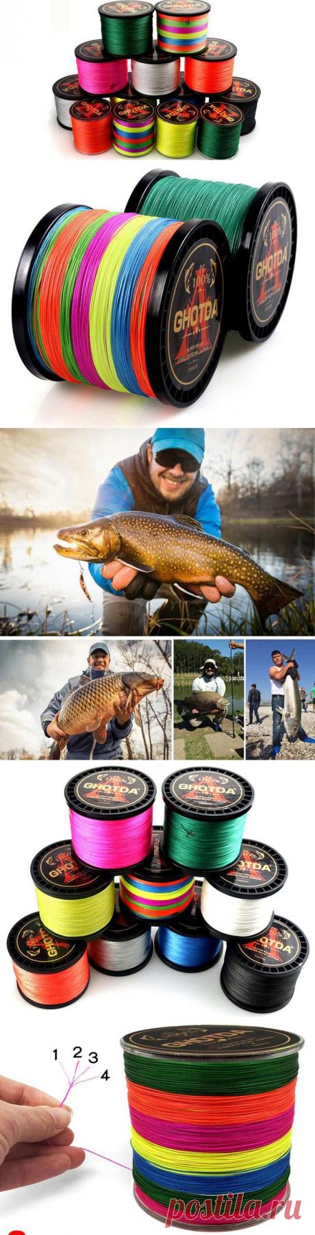Прочная плетеная рыболовная леска из проволоки GHOTDA 4 нити с Алиэкспресс   Super-Blog