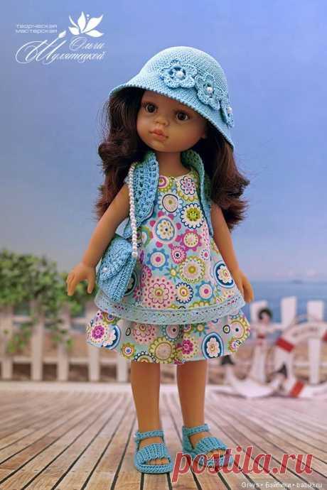 Описание болеро и сумочки крючком для кукол формата Паола Рейна / Вязание для кукол / Бэйбики. Куклы фото. Одежда для кукол