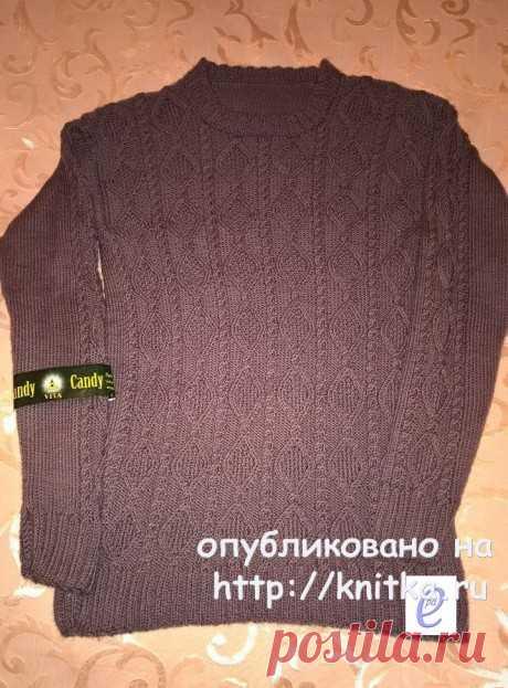 Мужской свитер спицами. Работа Веры Коваль, Вязание для мужчин