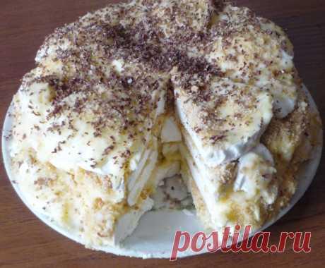 Быстрый и вкусный торт из зефира с печеньем — объедение! Быстрый и вкусный торт из зефира с печеньем — объедение!