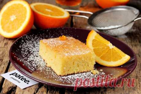 Пирог Ревани с апельсиновым сиропом.