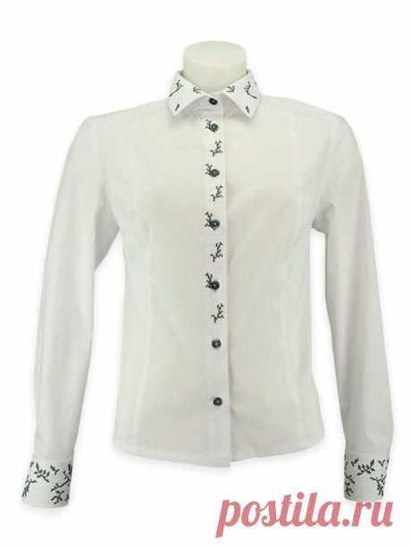 Вишиванка для бізнес-леді (вишиванка), колір білий, код 278 | kirushkos.com.ua