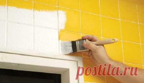 Как покрасить плитку в ванной чтобы ее обновить без ремонта