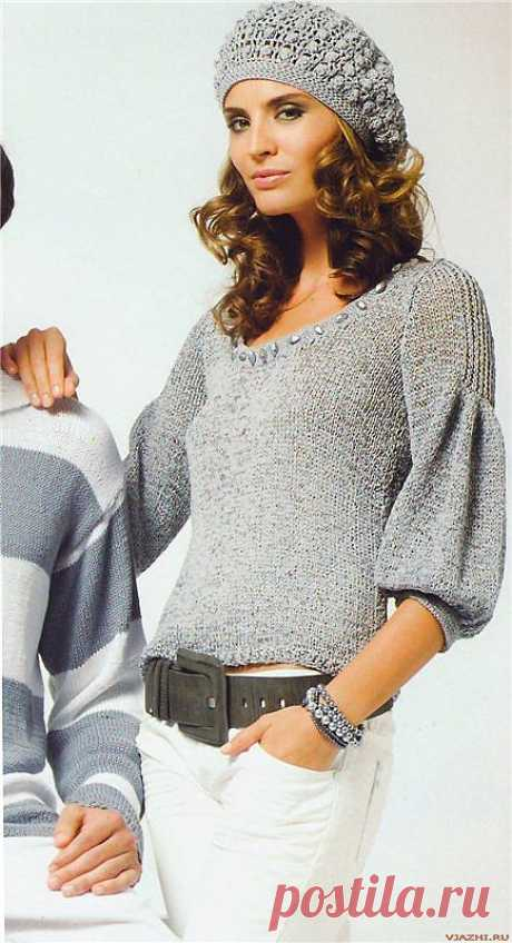 PULLOVER WITH THE ORIGINAL SLEEVE FROM KATIA.