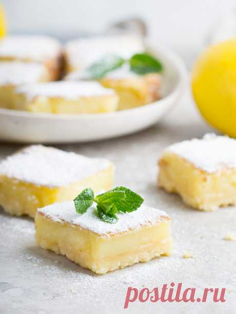 Elena Demyanko: Lemon small squares \/ Lemon Bars