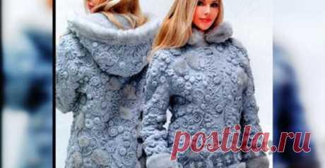 Необыкновенно красивое вязаное пальто в технике фриформ от мастера Ольги Масагутовой: мастер-класс . Милая Я