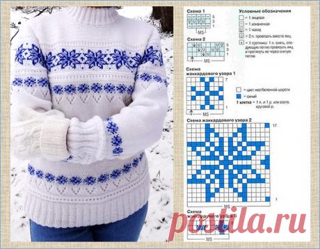 20 белых кофточек с прекрасными жаккардовыми узорами - модели плюс схемы - вязание спицами   МНЕ ИНТЕРЕСНО   Яндекс Дзен