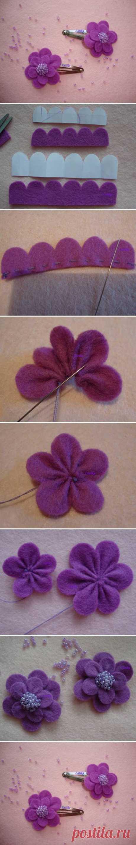 DIY Felt Morning Flower DIY Projects | UsefulDIY.com