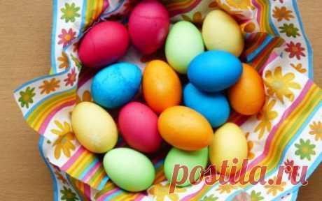 Красим яйца на Пасху в разные цвета — самые простые и красивые способы