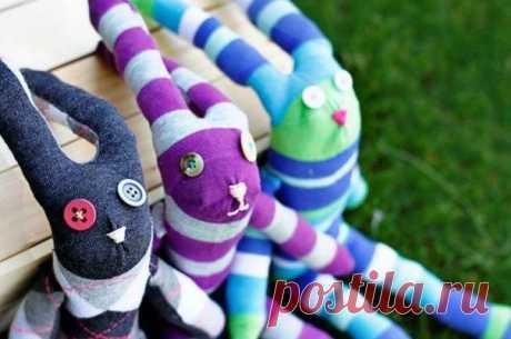 Как сделать мягкую игрушку из носка своими руками в домашних условиях