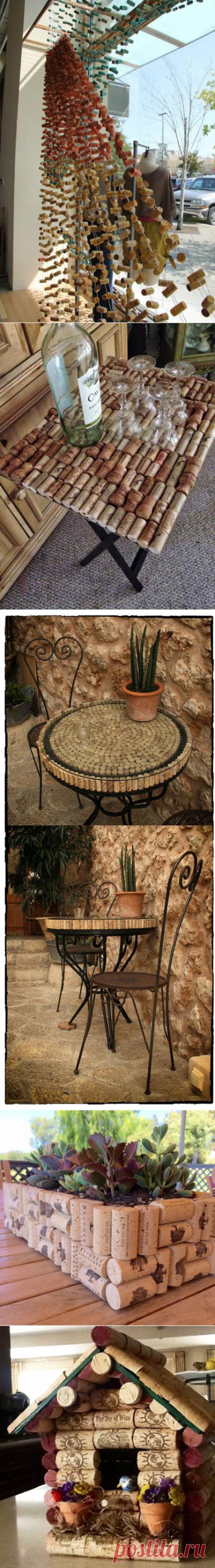 Необычный декор из винных пробок - Ярмарка Мастеров - ручная работа, handmade