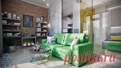 Design of the stylish modern apartment of 67 sq.m.