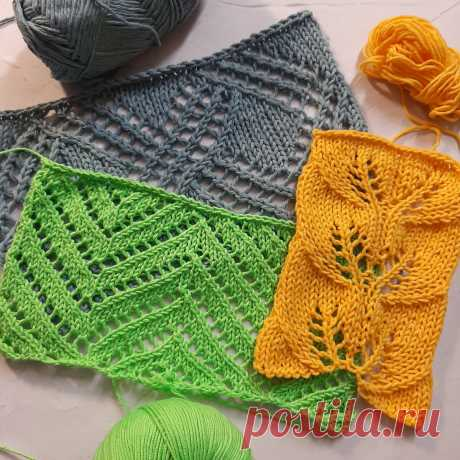 3 узора для летнего вязания, которые я выбрала для себя этим летом - что хочу связать | Вязалушка | Яндекс Дзен