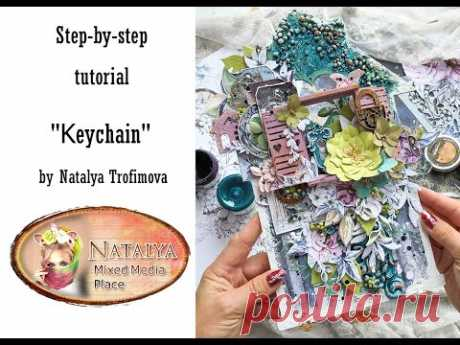 Keychain step by step tutorial for Mixed Media Place
