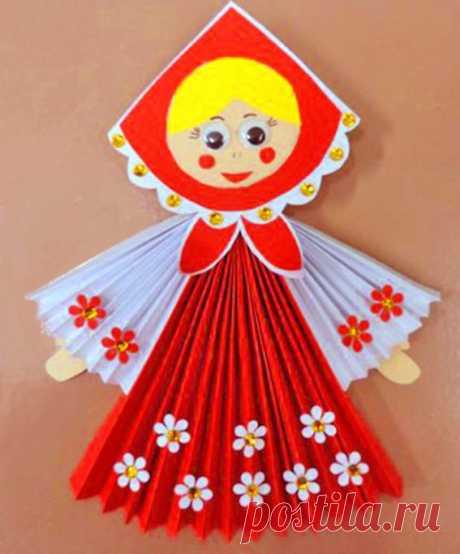 Поделка из цветной бумаги «Русская красавица» — Поделки с детьми