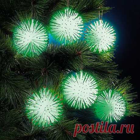Набор из 6 украшений «Светящиеся шары» - Украшения - Новый год: MeggyMall.ru Интернет-магазин - 499 р.