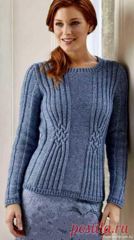 Восхитительный джемпер «Selma»   Вязание для женщин спицами. Схемы вязания спицами