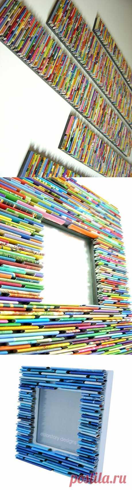 Как украсить стену старыми журналами) / Арт-объекты / ВТОРАЯ УЛИЦА