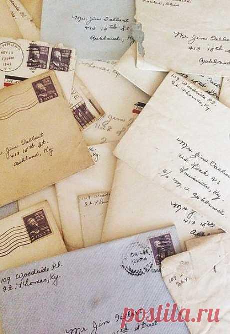 большинство уже не пишут писем, как это делали раньше:(