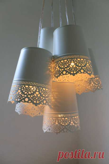 Лампа из икеевских горшков для цветов / Освещение / ВТОРАЯ УЛИЦА