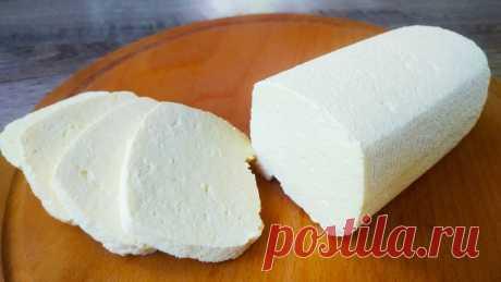 Домашний сыр без соды и ферментов за 15 минут из 3 ингредиентов!